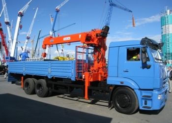 КАМАЗ 65117, КМУ – Kanglim KS 1256G-II