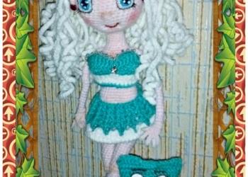 Авторская кукла вязанная крючком