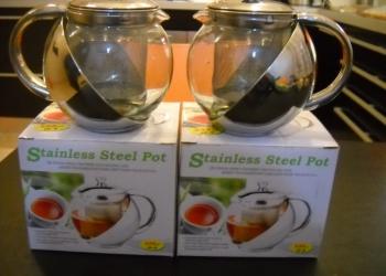 Чайники нержавейка новые заварочные 0,5 л