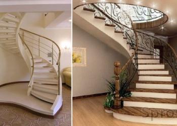 Бетонные монолитные лестницы.