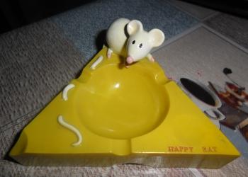 """Пепельница сувенирная """" Мышка на сыре"""""""