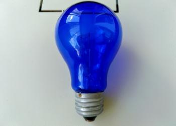 Лампы накаливания синие
