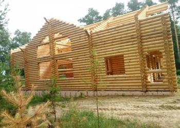 Шлифовка, покраска деревянных срубов домов, бань