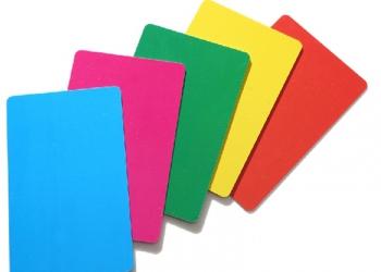 Цветные таблички -ценники для надписей маркером