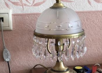Продаётся хрустальная люстра и лампа