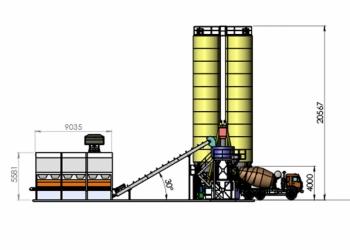 Быстромонтируемая бетоносмесительная установка RITEKO VELOCE 75 MP