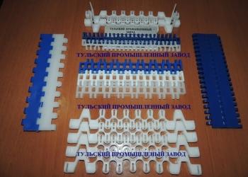 Прямоходная модульная конвейерная лента закрытого типа с шагом 25