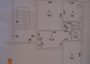 2-к квартира, 61 м2, 4/5 эт.