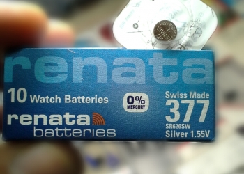 Батарейка для наручных часов Renata 377. Швейцария