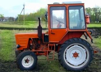 Вспашка огорода трактором т-25