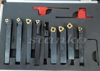 Набор токарных резцов со сменными пластинами сечением 10 мм - 9 шт.