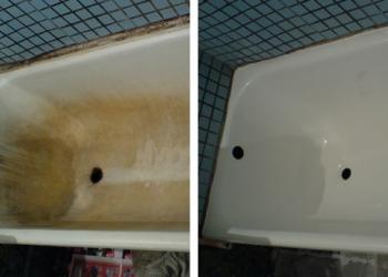 Реставрация ванн высококачественной эмалью