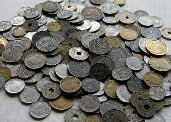 Старинные монеты Европы до 1950 года на вес от 1 кг.