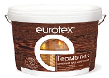 Герметик для швов деревянного дома Eurotex