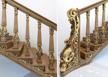 Облицовка лестницы на Рублёвке, в Москве, в Московской области на заказ