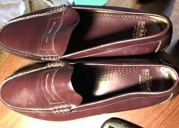 Туфли Sebago 50 размер. Коричневые кожаные новые.