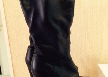 Демисезонные кожаные сапоги