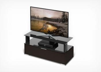 стол TV-23110 дуб,черное стекло
