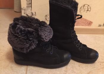 Натуральный мех натуральная замша ботинки
