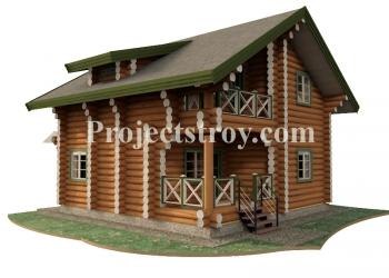 Проект деревянного дома, сруба или бани