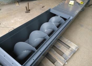Шнековый транспортёр (винтовой конвейер, шнек в трубе, шнек в лотке)