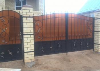 Кованые ворота, заборы от производителя.