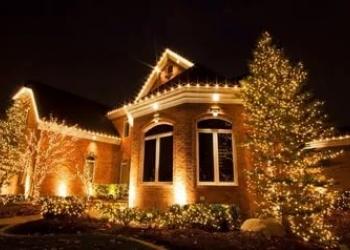 Новогоднее оформление фасадов зданий, илюминация. Ижевск