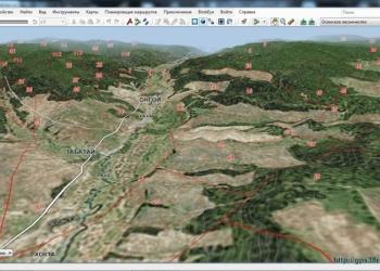 3D карта. Квартальная сетка
