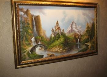 Картина холст масло художник неформал А.Стрелков