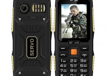 Ударопрочный и пылевлагонепроницаемый  телефон SERVO V3 на 4 СИМ карты