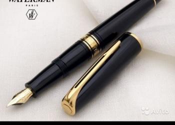 Перьевая ручка Waterman Charleston, цвет Black/GT с золотым пером.