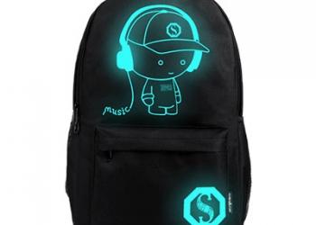 Светящийся рюкзак.