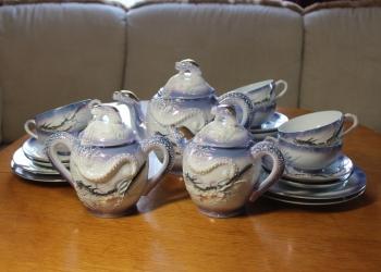Сервиз чайный Япония Драконы 6 персон