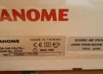 Швейная машина Джаноме(пр-во Тайвань), вхорошем состоянии