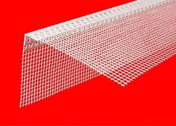 Угол с сеткой для штукатурки, оконный профиль