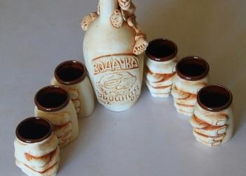 Набор для напитков из керамики ручной работы