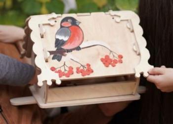 Кормушка для птиц с местом для декупажа