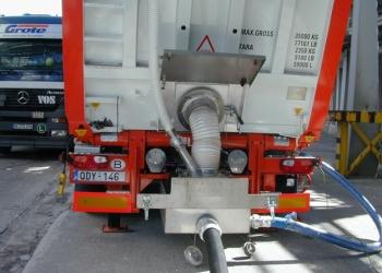 Оборудование для разгрузки сыпучих материалов из контейнеров.