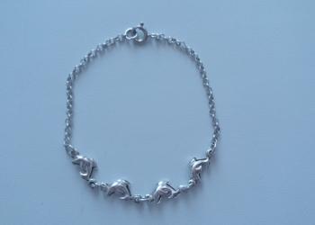 Серебряный браслет «Дельфины»