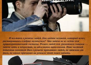 Детективное агенство, Частный детектив
