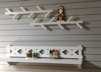 деревянные полки в скандинавском стиле