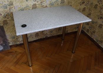Продам НОВЫЙ крепкий удобный надёжный обеденный стол на металлических, хромирова