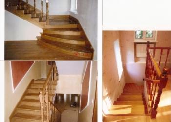 Деревянные лестницы в Видном, в Москве, в Московской области.