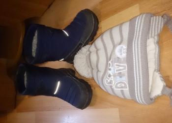 Зимняя обувь, зимняя шапка