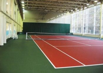 Строительство теннисного корта – наливное резиновое покрытие, теннисит,  Хард, и