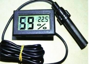 Жк-цифровой термометр – гигрометр с выносным датчиком 1 м Новый