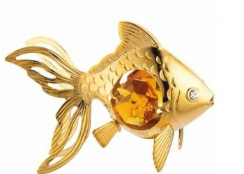 Сувенир Золотая золотая рыбка предназначен для подарка и для выполнения желаний