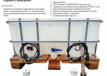 Емкость  V 1000 Л.с электро подогревом