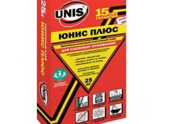 Плиточный клей Юнис Плюс 25 кг в Дмитрове