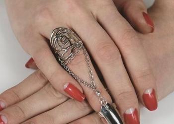 Кольцо с цепочкой Laure Silver К64